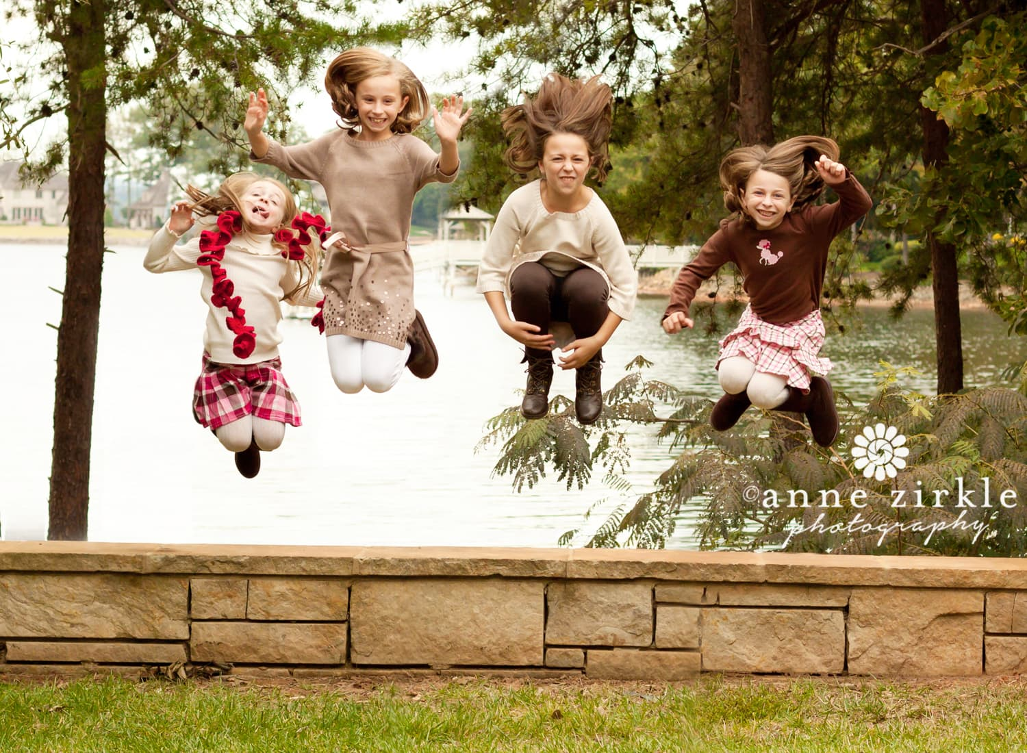 four-sisters-jumping-off-wall