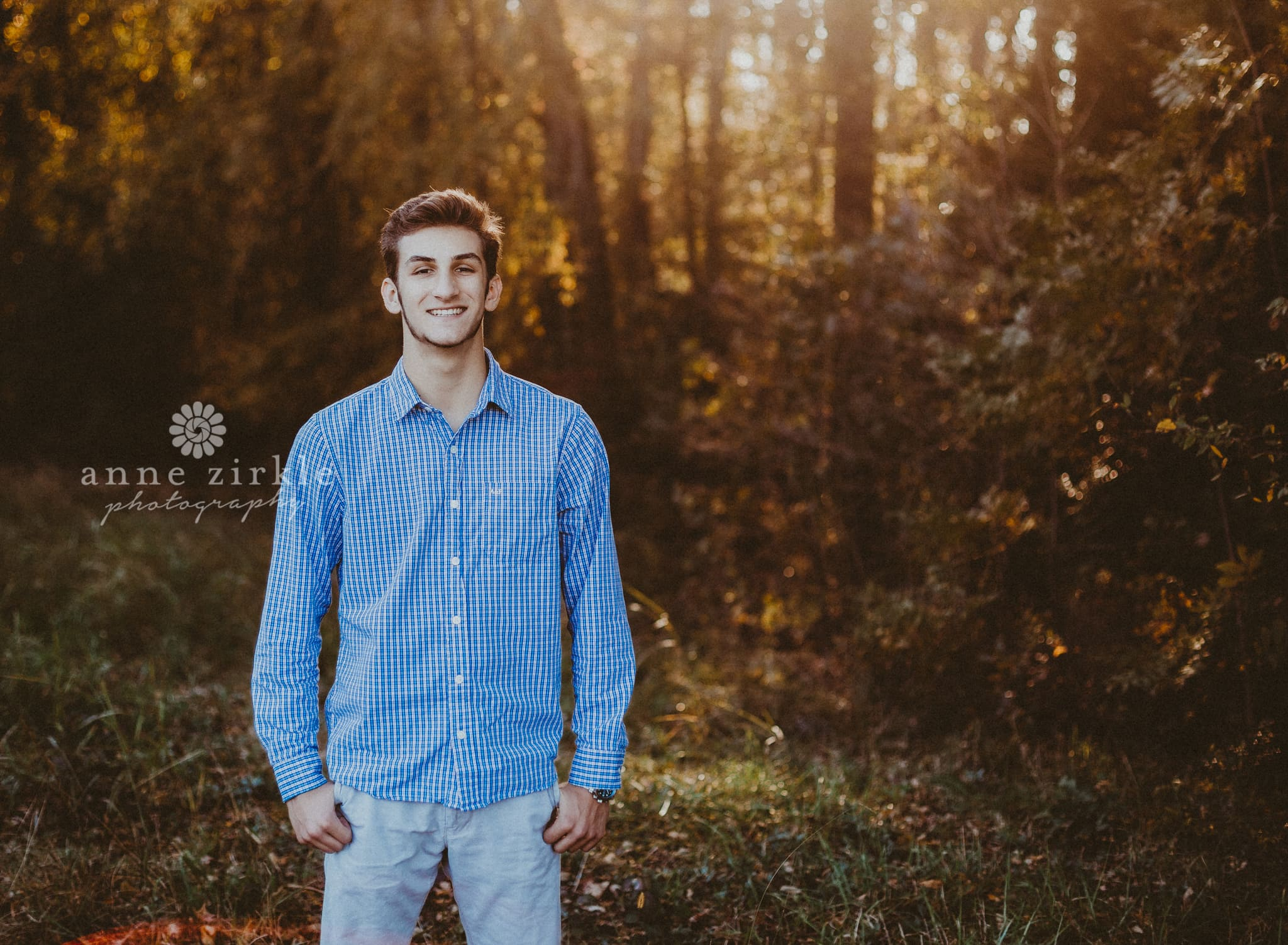 senior boy standing in woods #mooresville #northcarolina #davidson #lakenorman #southiredell #pinelakeprep #highschool #highschoolsenior #highschoolseniors #seniors