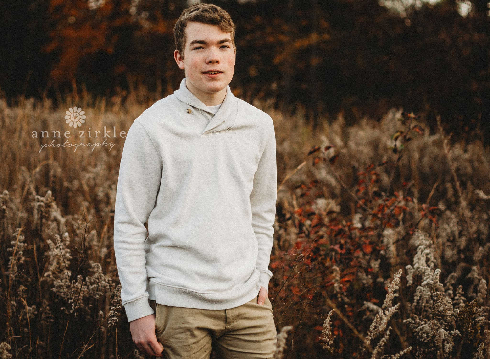 high school boy standing in autumn field #mooresville #northcarolina #davidson #lakenorman #southiredell #pinelakeprep #highschool #highschoolsenior #highschoolseniors #seniors