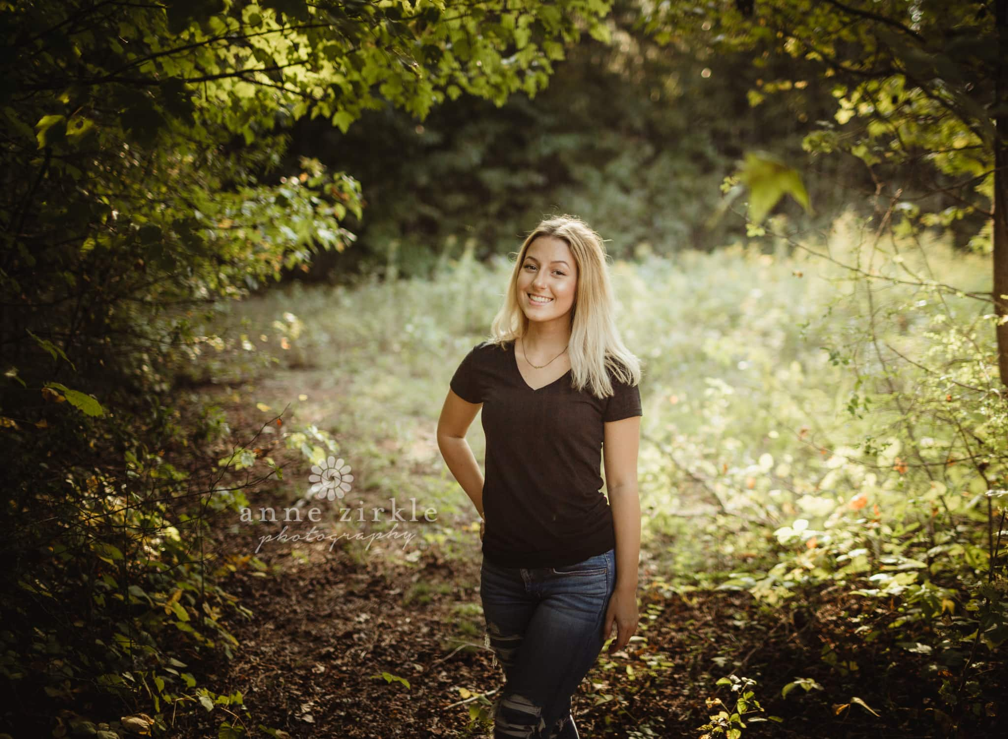 senior girl standing in wooded area #mooresville #northcarolina #davidson #lakenorman #southiredell #pinelakeprep #highschool #highschoolsenior #highschoolseniors #seniors