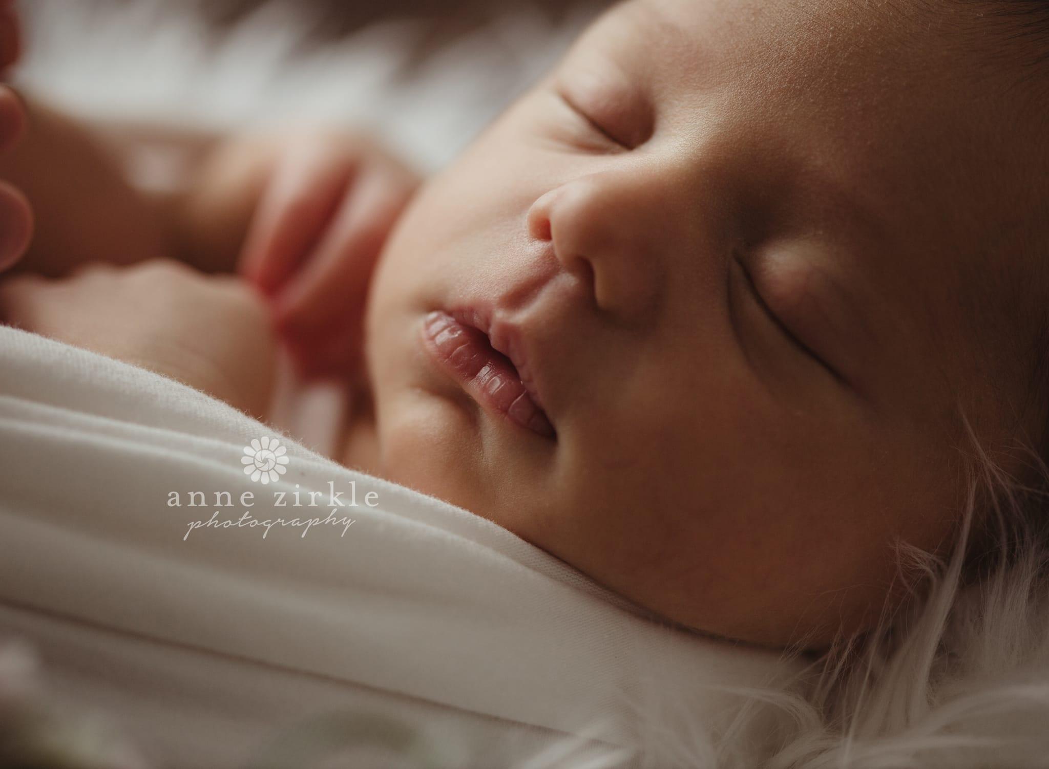 newborn close up macro Mooresville and Lake Norman newborn baby photographer